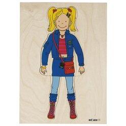 Lagenpuzzle Kleidung - Mädchen, ab 4 Jahre