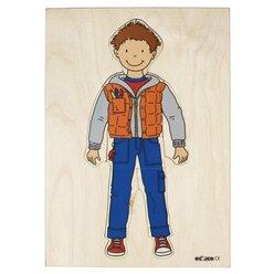 Lagenpuzzle anziehen, umziehen - Junge, ab 3 Jahre