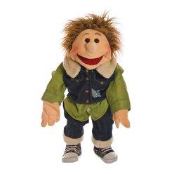 Living Puppets große Handpuppe Gerrit, Junge mit Jeansweste W158