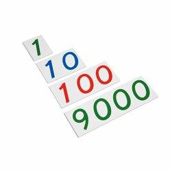 Zahlenkarten aus Kunststoff große Zahlenkarten, 1-9000