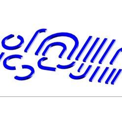 Buchstabenelemente blau 1x 20 Einzelelemente