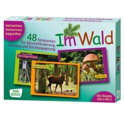 Im Wald, 48 Fotokarten A5 mit Begleitheft, 1-7 Jahre