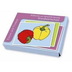 Bildkarten zur Sprachförderung - Grundwortschatz: Essen und Trinken