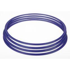 Gymnastik-Reifen, Flachreifen 40 cm blau (4 Stück)