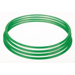 Gymnastik-Reifen, Flachreifen 40 cm grün (4 Stück)