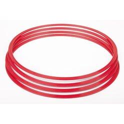 Gymnastik-Reifen, Flachreifen 76 cm rot (4 Stück)