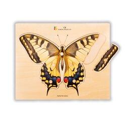 "Holz-Puzzle ""Gelber Schmetterling"""