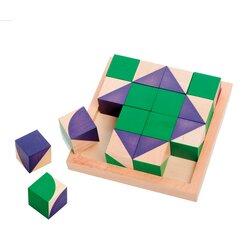 Jakolino, Legespiel mit 16 Holzwürfeln