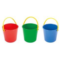 Spielzeugeimer 2 Liter, blau (3 Stück)