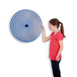 Wandkreisel I Spirale, blau und rot, 63 cm Ø