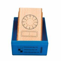 Uhrenstempel digital-analog, 24 Stunden, ab 6 Jahre
