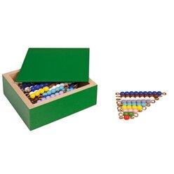 Farbige Perlentreppen zehn Sätze, lose Perlen Kunststoff