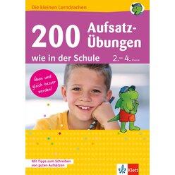 Die kleinen Lerndrachen - 200 Aufsatzübungen wie in der Schule, 2.-4. Schuljahr