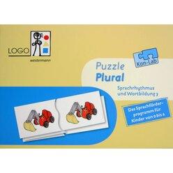 Kon-Lab Puzzle Plural, Sprachrhythmus und Wortbildung 3, 0-10 Jahre