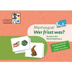 Kon-Lab Memospiel Wer frisst was?, 0-10 Jahre