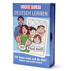 Deutsch Lernen: Ich freue mich und du dich! Kartenspiel für 2-4 Spieler, ab 8 Jahre