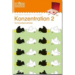 LÜK Konzentration 2, Übungsheft, 1.-4. Klasse