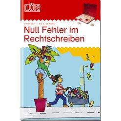LÜK Null Fehler im Rechtschreiben 1, Heft, 3.-6. Klasse