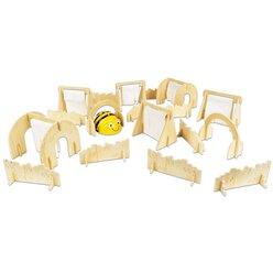 Bee-Bot Hindernisse, 18 Teile aus Holz