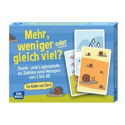 Mehr, weniger oder gleich viel?, Kartenspiel, 3-6 Jahre
