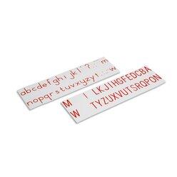 Aufgedruckte Buchstaben, Druckschrift, internationale Version, rot, ab 6 Jahre
