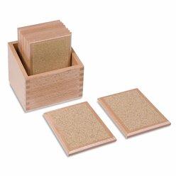 Tasttäfelchen in Holzbox - grob - fein
