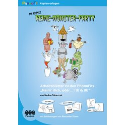 PhonoFit-Kopiervorlagenmappen: Die große Reime-Monster-Party, ab 5 Jahre