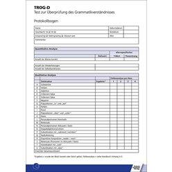 TROG-D Protokollbogen, 100 Stück