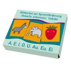 Anlaute erkennen: Vokale, Bildkarten zur Sprachförderung, ab 3 Jahre, Neuauflage