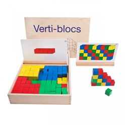 Verti-blocs Satz A, Lernamterial Geometrie, ab 4 Jahre