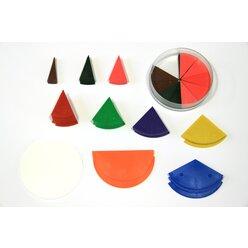 Bruchteile Kreis 10 Brüche aus RE-Plastic
