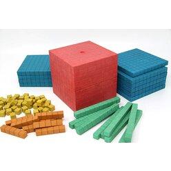 Dienes Grundsortiment in 5 Farben aus RE-Wood®, Set I, 141 Teile im Karton