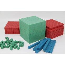 Dienes Grundsortiment aus ReWOOD®, 121 Teile, in 4 Farben nach Montessori