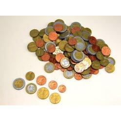 EURO - Rechengeld Münzen, 160 Stück im Polybeutel