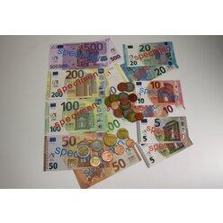 EURO-Spielgeldsatz, 22 Münzen und 22 Scheine im Polybeutel, Rechengeld