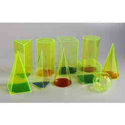 Geometrie Modelle 7,5/15 cm mit farbigen Boden aus RE-Plastic°