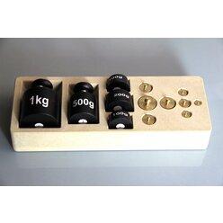 Gewichtssatz 2 kg in einem Block aus RE-Wood
