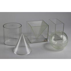 Geometrie Modelle  10/10 cm Körper Satz zum Füllen ohne Boden aus RE-Plastic°
