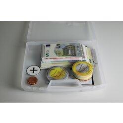 Rechengeld Euro, magnetisch, aus MAG-Pap° in Kunststoffbox