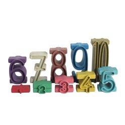 Stapelzahlen in Montessori-Farben aus RE-Wood®