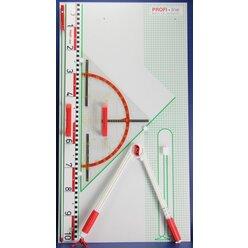 Tafelzeichengeräte Satz I Magneto mit Vollmagnetstreifen aus RE-Plastic° PROFI-linie (165101.M00)