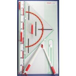 Tafelzeichengeräte Satz II Magneto mit Vollmagnetstreifen aus RE-Plastic° PROFI-linie (165103.M00)