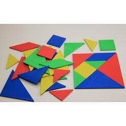 Tangramsatz aus RE-Plastic°, 28 Teile, 4er-Set im Polybeutel, 1.-6. Klasse