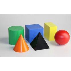 Geometrische Körper, 10/10 cm aus RE-Plastic°