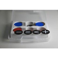 Wendeplättchen magnetisch 125 Teile im Kunststoffkoffer