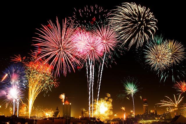 Das neue Jahr wird mit einem Feuerwerk begrüßt und damit auch die Neujahrsvorsätze