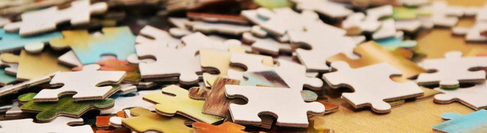 Teile eines Puzzlespiels